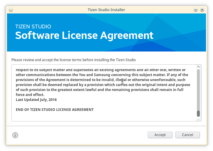 tizen license